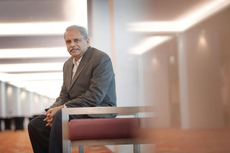 "Indian tech billionaire Senapathy ""Kris"" Gopalakrishnan's gift is the largest from an Indian national to NTU.ST PHOTO: ALPHONSUS CHERN"